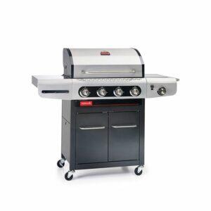 Barbecue a gas di facile utilizzo con 4 bruciatori e fornello laterale