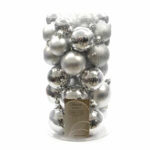 Confezione 30 sfere argento.