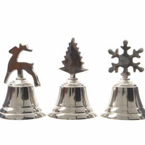 Campana christmas alluminio cm 10 assortiti.