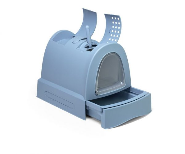 Zuma è una cassetta igienica per gatti che coniuga design moderno e innovativo con una estrema praticità. La lettiera zuma