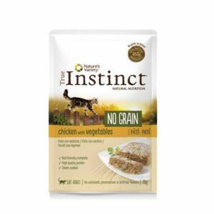 Nature's variety instinct cat no grain pouch adult pollo e pate 70 g.